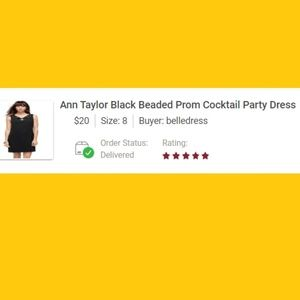 5 STARS no LOVE NOTE-Ann Taylor Party Dress